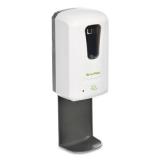 Hands-Free Foam Hand Sanitizer/Soap Disp w/ Drip Tray, 1200 mL, 6 x 4.4 x 18, White