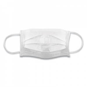 Cotton Face Mask with Antimicrobial Finish, White, 10/Pack